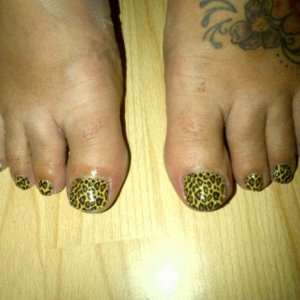Cheetah Minx Toes
