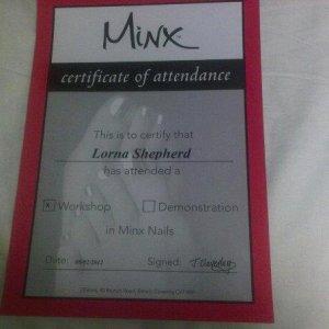 Minx certificate