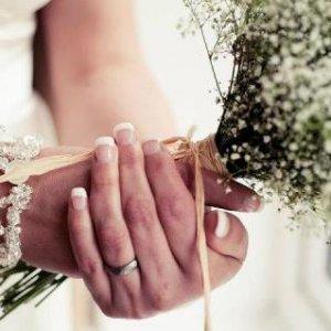 gelish wedding nails