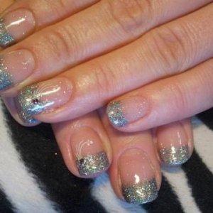 gelish glitter tips