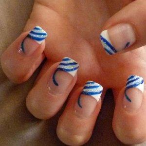 Blue White & Glitter