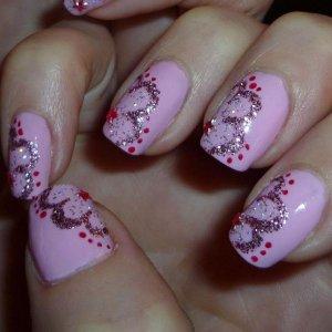 Pink + Glitter petals