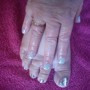 silver holographic and minx rose illusion