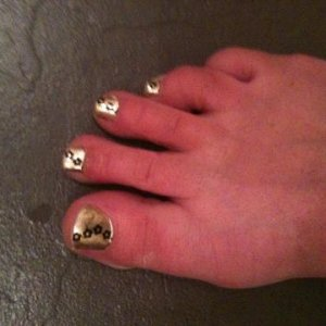 minx toe nails