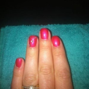 shellac nails in hot chillis