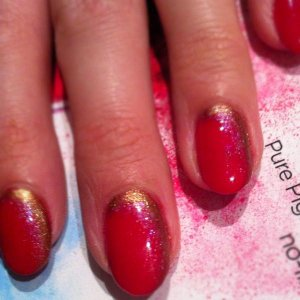 CND Shellac Wildfire, antique bronze and spectrum shimmer