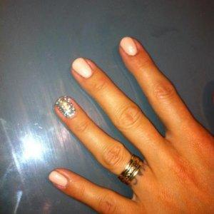 bio nude with ring finger swarovski