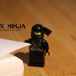 Wax Ninja checking his strips