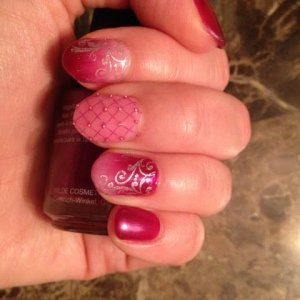color fade, stamping and bullion beads