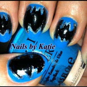 Inspired by 'The Dark Knight Rises' Colours Used: OPI Ogre The Top Blue