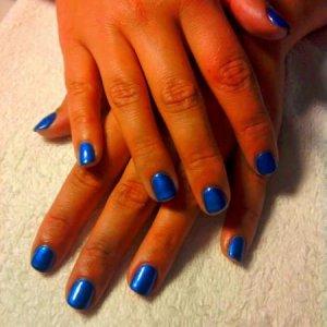 Shellac 'Purple Purple' with Cerulean Blue Additive