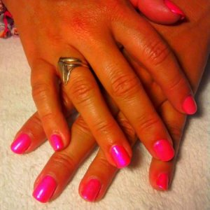 SHELLAC 'TROPIX' with Violet Pearl Additive