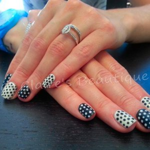 Black Shadow and Sheek White with Polka Dots