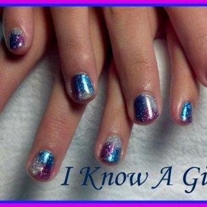 gelish glitter