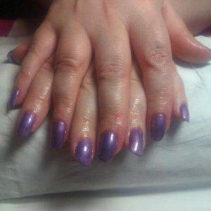 Shellac Manicure Purple Purple and M&R
