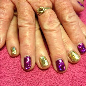 nail foils....two sisters aged over 70