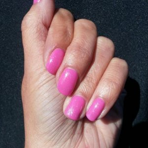Shellac Hot Pop Pink with Silver VIP