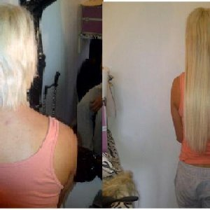 beths hair before & after #24 18inch