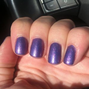 Purple Purple with pink/gold additive- makes a gorgeous sparkly mid-purple color!