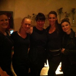The rest of my team working for Liza Smith Runway backstage at London Fashion Week