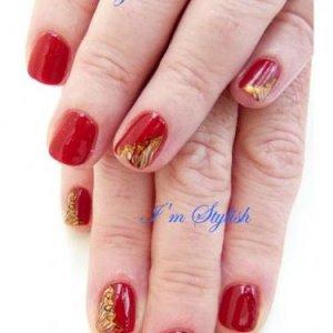 OPI polish with nail art
