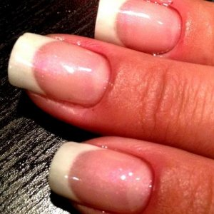 french maicure with igel on natural nails
