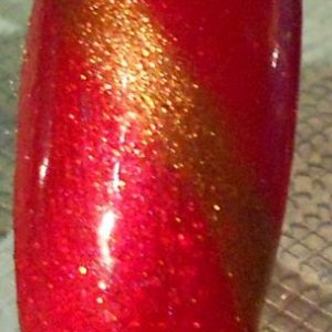 Red baroness with Antique Bronze additive stripe
