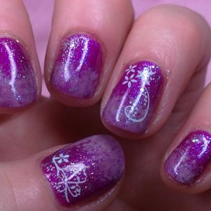 Gelish: Star burst & Take Action water field & Izzy Wizzy Lets Get Busy