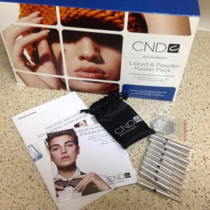 CND Master Liquid & Powder kit including the new dowels and forms for the extreme nail.