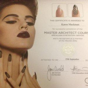 CND Master Achitech certificate.