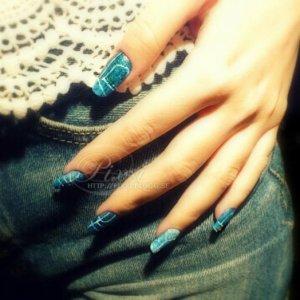 Jeans nails, my natural wonky nails
