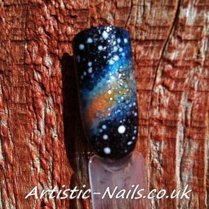 galaxy nails - Done with gelish and Additives.