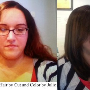 Before and after by Julie- www.seeladavidsalon.com