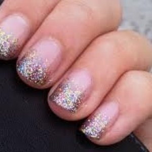 Ombré Glitter Shellac