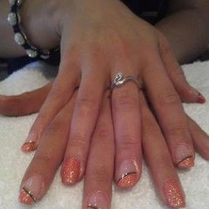 CND l&p with Shellac Tropix and Tinsel Toast