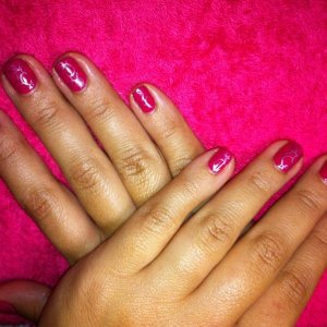 Lizannes gelish with konad stamp
