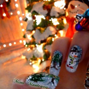 my christmas nail art http://mimimanicures.blogspot.co.uk/