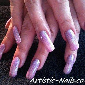 Purple pink fade rockstars