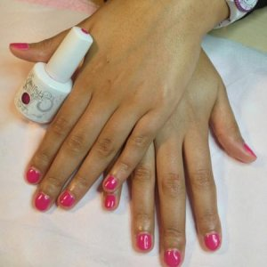 Gelish: Clients first time without Acrylics Carnival Hangover