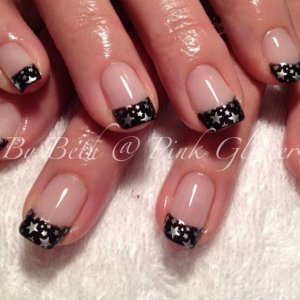 Licorice French with silver star stamping