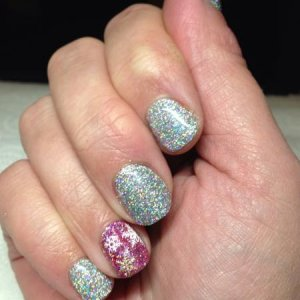 Snowflakes and holo glitter