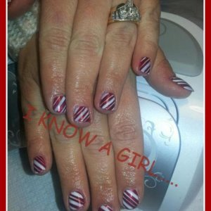 gelish candy canes