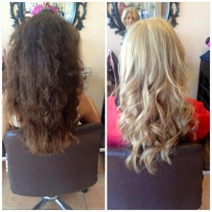 brown to blonde in one sit