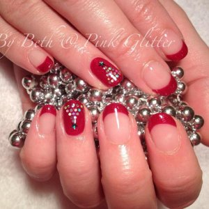 Moulin Rouge  with glitter hex and star gem