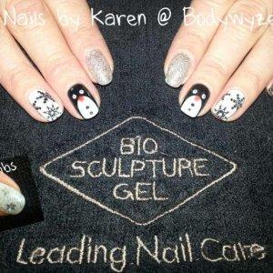 Bio Sculpture Christmas nails. X