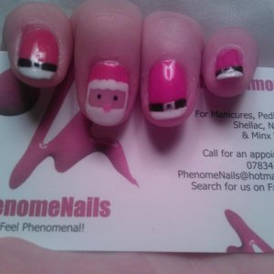 Santa nails! A challenge from a customers' hubby :) Think I won that one!