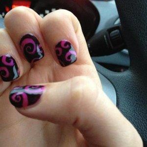 Pink swirls will always look amazing
