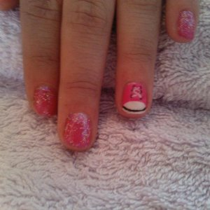 bling and trainer on a nail biter who is now a nail watcher instead of a nail biter :)