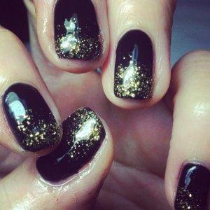 Black with full gold glitz