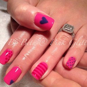 Bright Summer Pink overlays with Cherise Pink & High Tea Tulip hand painted detail